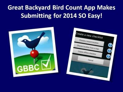 Great Backyard Bird Count has an App!